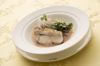 白身魚の飾り蒸し