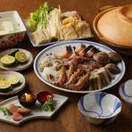 【濱喜久】名物! 魚介をふんだんに使用した海鮮鍋『おきすき』