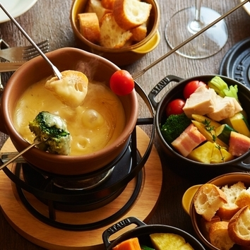 『肉バルチーズフォンデュ食べ放題コース』2時間飲み放題付