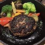 秋田短角牛100%ハンバーグ 200g~スープ、サラダ、ライス付き~