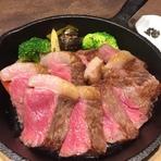 秋田短角牛 サーロインステーキ 200g ~スープ、サラダ、ライス付き~