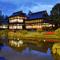 個室から望む雅な日本庭園。四季折々の風情ある情景