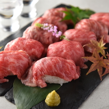 2時間食べ放題「炙り肉寿司10種食べ放題」【1980円】税抜