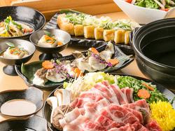 季節の食材を使用した普段よりハイグレードなコース。