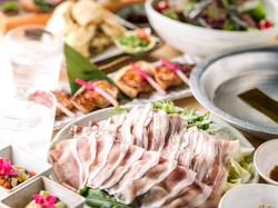 黒宝豚の濃厚な味と創作和食の繊細さに舌鼓。 丁寧な調理で素材そのものの旨みを引き出しました。
