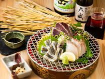 魚介類の旨みを最大限引き出す藁焼き
