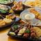 焼鳥、串カツ、一品料理、全てが味わえるお得なコース料理