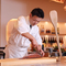 和食の調理ライブ、外国の方の接待に最適