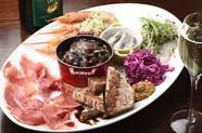 バランスよく食べられる、前菜7種の盛り合わせ『Antipasto Misto okei』