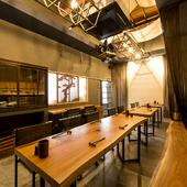 ゆったりとくつろげるお洒落な空間で、広島のおいしいものを満喫