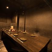 プライベートな個室席で、周囲を気にすることなくお食事を
