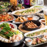 久留米、福岡名物が全て一度に楽しめるとっておきの居酒屋だが、個室もあり、落ち着いた雰囲気、お洒落な空間で大人に人気のお店。一番人気の食べ飲み放題コース(¥3500税抜き)もあり、おなか一杯大満足間違いなし。