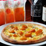4種類のチーズとももふるのピザ