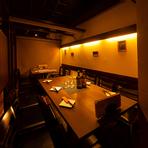半個室は歓送迎会や女子会、会社の飲み会など様々なシーンにOK