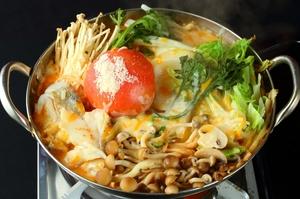 イタリアン風!完熟トマトのチーズ鍋