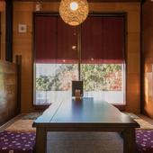 座敷席のご用意も。ゆったりと過ごせる憩いの空間でお食事を