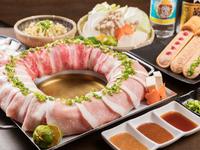 沖縄県産豚ロース ホエー豚バラ 牛カルビ (小人 990円)