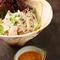 納豆ドレッシングの豚しゃぶサラダ