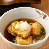 リピート客が絶えません。お酒のアテにもおすすめ『豆粋の揚げだし豆腐』