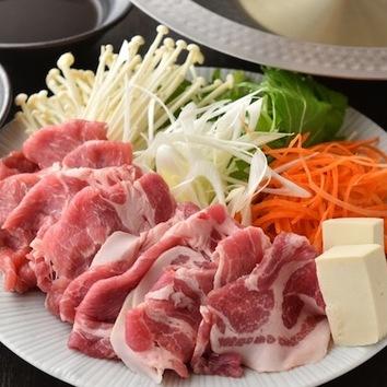 2時間「柔らか豚しゃぶしゃぶ食べ放題」【4000円→3000円】