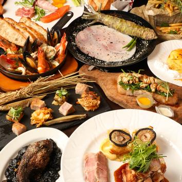 【月・土曜日限定】名物「塊肉」付豚バルYコース4980円⇒4500円