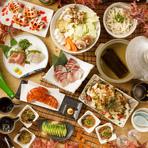 銘柄鶏を贅沢に堪能!大山鶏の串焼きをはじめ古白鶏の親子綴じなど!米助の魅力たっぷりのコースとなります