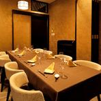 落ち着いた雰囲気の完全個室。人生の節目にふさわしい上質な空間