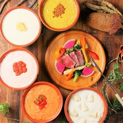 UFOフォンデュ、チーズタッカルビ、お寿司、肉のお寿司、おつまみ、寿司など125種が食べ放題&飲み放題!