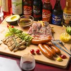 皮パリチキンステーキや特撰ローストビーフ、ジューシーソーセージグリルや生ハム盛り合わせなど自慢の肉料理を思う存分お楽しみ頂ける宴会コースとなっております! 肉食女子や食べ盛りの男性におすすめです!