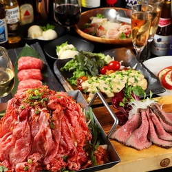 美容健康効果が高いとされる「ラム肉」と「牛タン」をお茶出汁しゃぶしゃぶでお楽しみ頂けるご宴会コース。