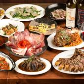 世界中の豚肉を厳選。部位ごとの様々な味わいと食感を堪能できる