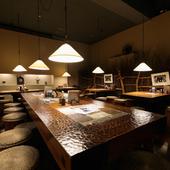 落ち着いた和みの空間でいただく日本料理で季節を感じる