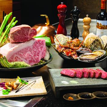 【鉄板焼コース】瑠璃/選べる国産牛を含む料理7品 6000円