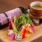新鮮な糸島野菜をふんだんに使った『バーニャカウダ』