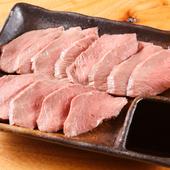 ジビエのイメージが覆る、臭みのない淡泊な赤身肉『鹿のタタキ』