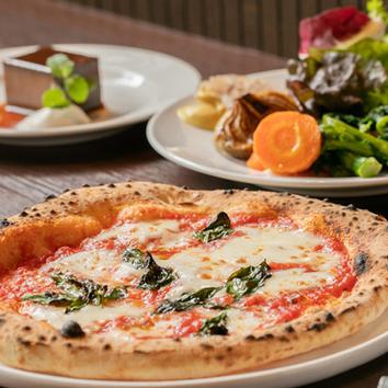 《早割》ピザ・パスタとハンガリー産鴨肉のコース3000円→2480円