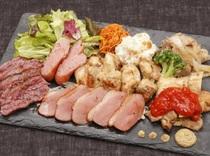 肉バル色々お肉6種盛り合わせ
