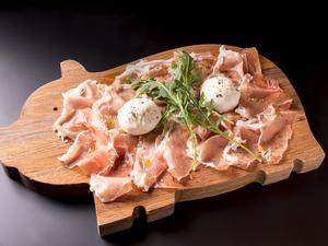 水牛ミルクのモッツアレッラチーズ&パルマ産の生ハム