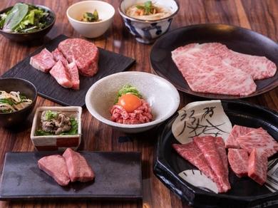 【特選和牛コース】ユッケ、タン塩、塩焼き、タレ焼き、焼きすきが全部楽しめる贅沢焼き肉三昧 全11品