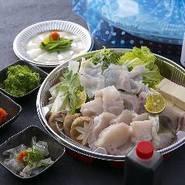 『湯引き』『てっさ』『てっちり』『野菜盛』『薬味』『ポン酢』 ※要予約 2日前