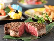 前菜/サラダ/黒毛和牛ヒレステーキ/温野菜/赤出汁/御飯/香の物/デザート