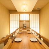 1F【接待・会食に◎】6~8名様迄可能のテーブル個室