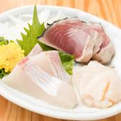 魚の魅力を存分に満喫できる『今日のお刺身』