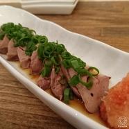 宮崎鶏の白レバーポン酢