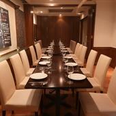 会食、接待に使える個室完備