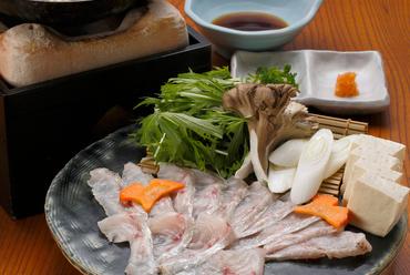 高級魚を存分に味わう『のどぐろのしゃぶしゃぶ』 一人前