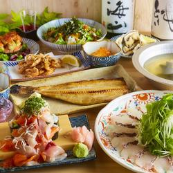 料理長こだわりの旬の食材を活かした逸品料理が満載!鮮度抜群の鮮魚がお楽しみいただけます!