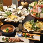 開放感たっぷりの空間で、豪快に海鮮料理を楽しめる宴会を