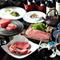 前菜、名物トロタンを含む焼物、しゃぶしゃぶ、すき焼き、熟成肉とシャトーブリアン、贅を極めた特別コース