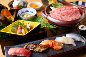ベテランの職人による本格板前の寿司と、伝統の日本料理を堪能できる『寿司会席』